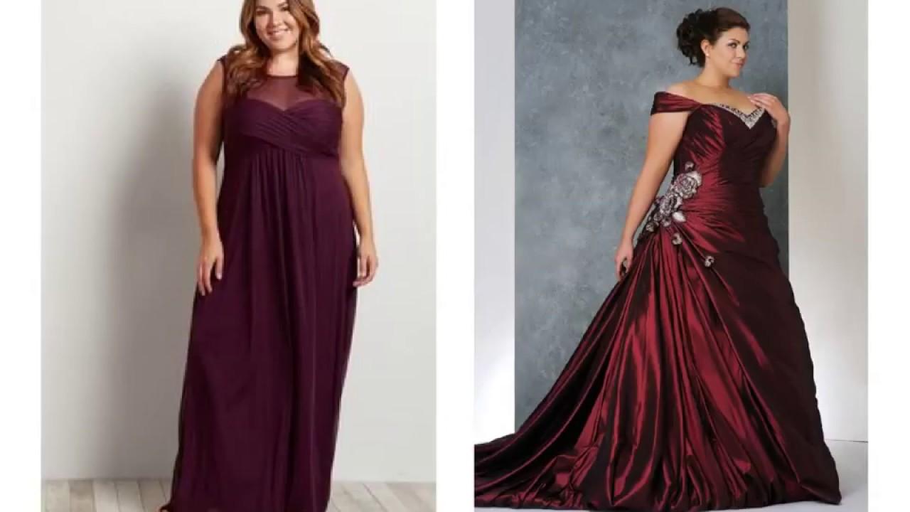 Burgundy Wedding Dresses Plus Size