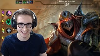 Zed vs Yasuo - Bjergsen Solo Queue Highlights