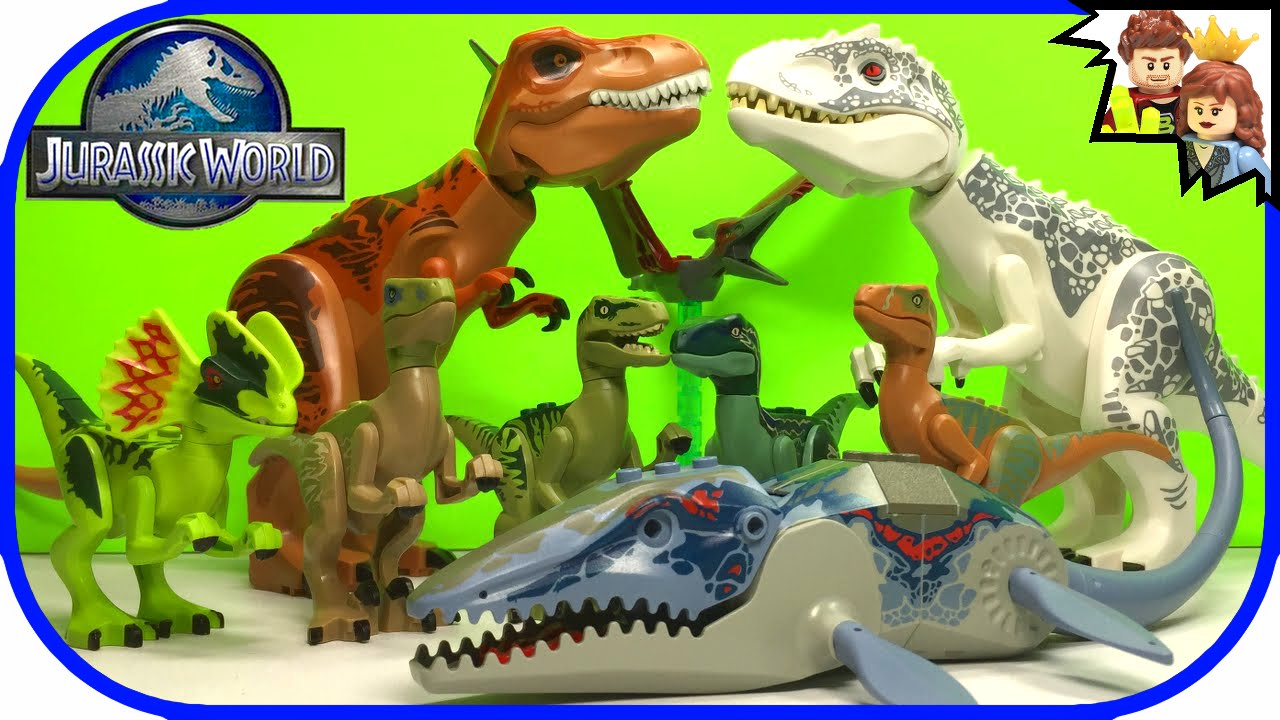 lego jurassic world collection favorite dinosaurs size comparison - Lego Dinosaure