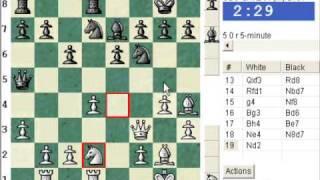 Scandinavian Defence: Pytel-Wade variation (B01) : LIVE Blitz Chess #207 vs IM UBO-SATLAH (2181)