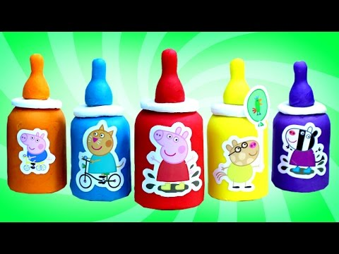 Thumbnail: Peppa Pig Play Doh Baby Bottles with Surprise Toys