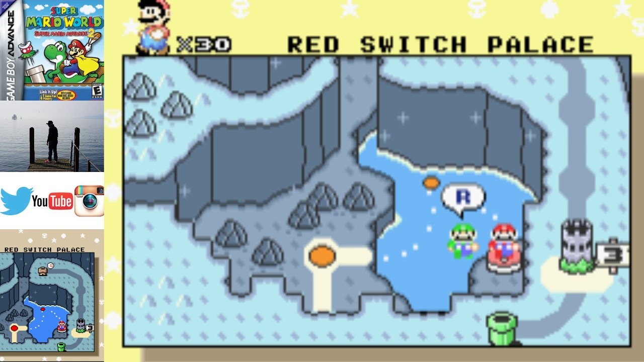 How To Get To The Red Switch In Super Mario World Super Mario