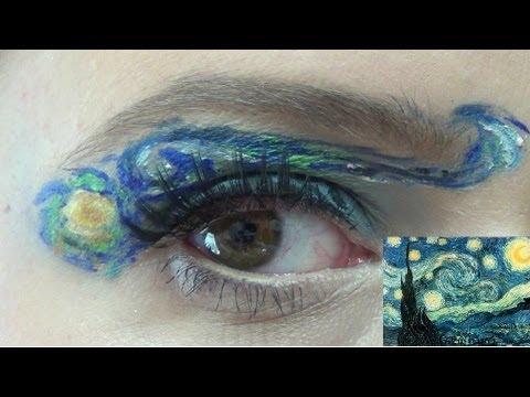 Make art la notte stellata van gogh make up tutorial for La notte stellata