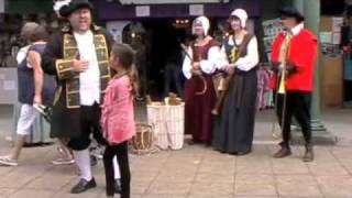 Doncaster Town Crier at Wool Market