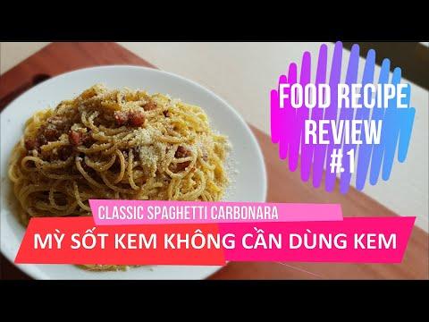 spaghetti-cream-sauce-without-cream---classic-spaghetti-carbonara---food-recipe-review-#1