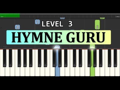 nada piano hymne guru / pahlawan tanpa tanda jasa - lagu wajib nasional - tutorial level 3
