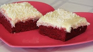 Red Velvet Sugar Cookie Bars With Cream Cheese Frosting -- Valentine's Day - Lynn's Recipes