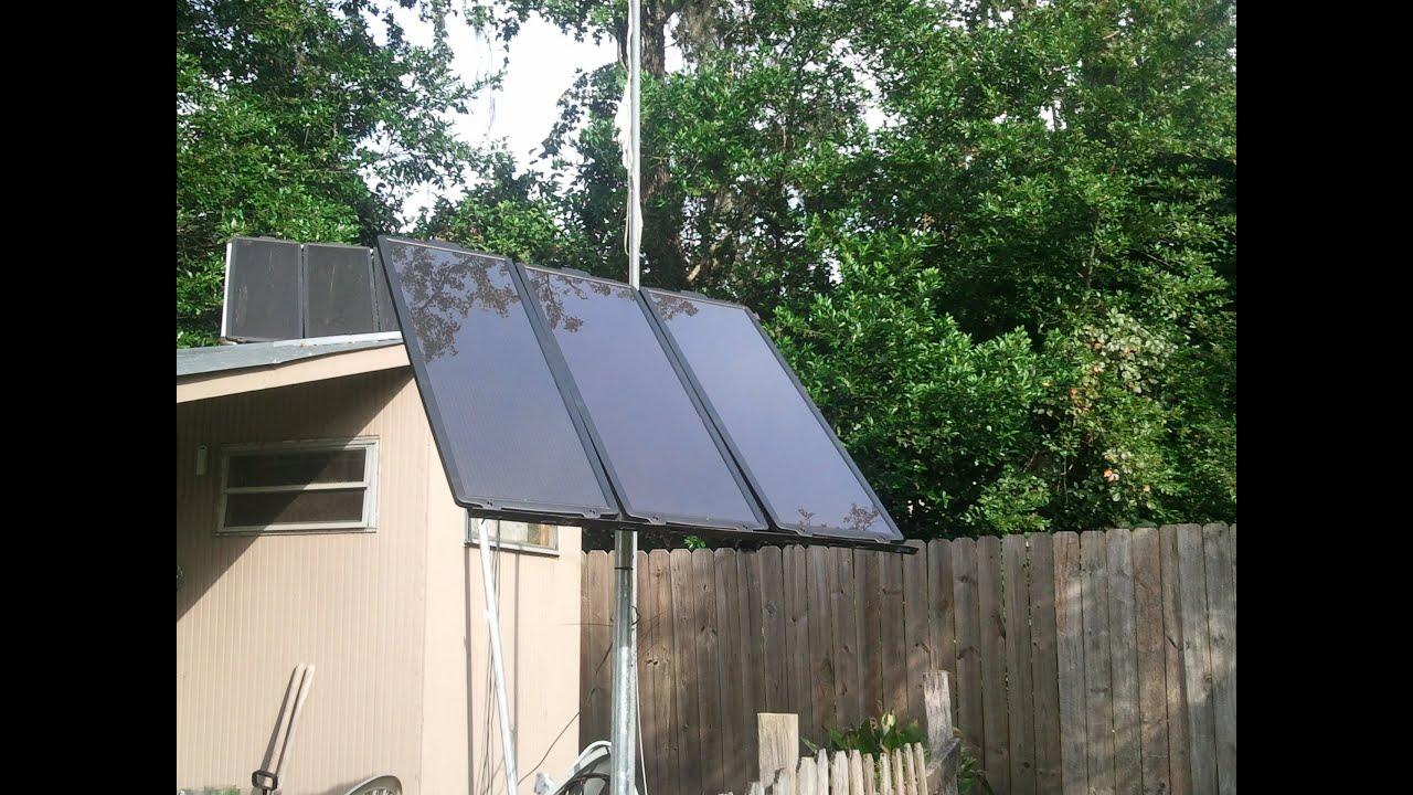 Solar Panel Pole Mount Youtube