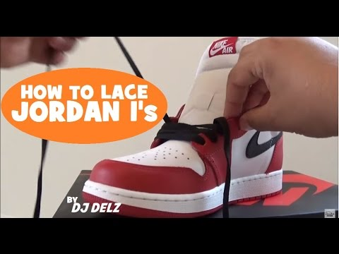 cdf79c766b6f How To Lace My Air Jordan 1 OG Retro Sneakers  SNEAKERHEAD  JUMPMAN   SNEAKERNEWS