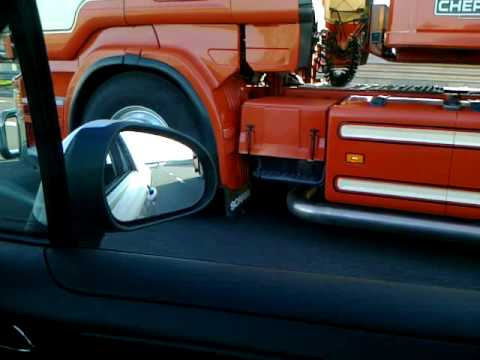 Scania R620 v8 Van Lommel in A1 Italy .mp4