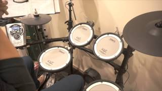 rolling in the deep only drum drum cover by ray