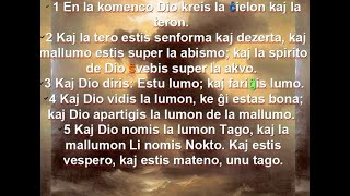 Esperanto with Bible, verse 3-5