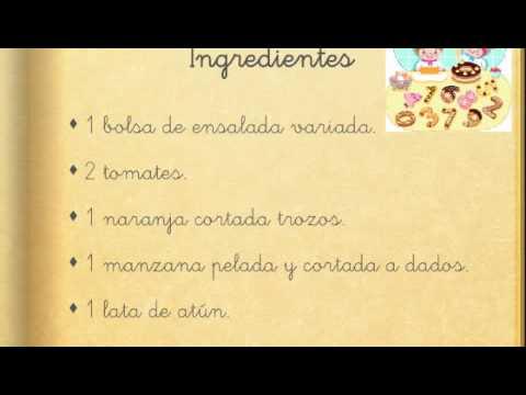 Receta De Cocina Para Niños De Primaria Youtube