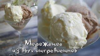 Мороженое из двух ингредиентов. Пломбир+шоколадное