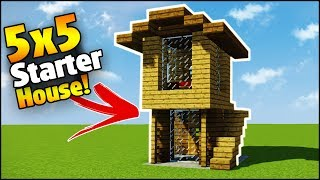 Minecraft: 5X5 Starter House Tutorial - How to Build a House in Minecraft