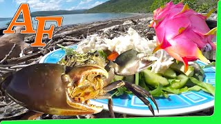 Catch and Cook Crab Salad w Blue Crab & Mud Crab & damn Delicious Dragon Fruit EP.395