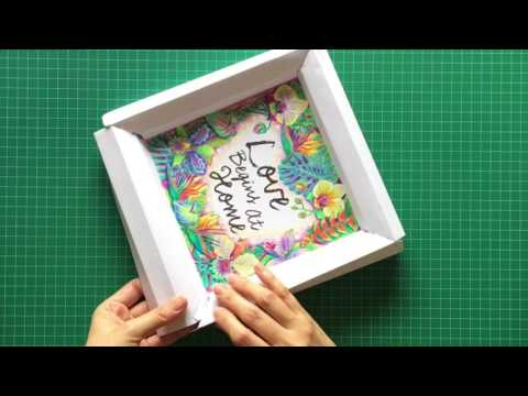 ColorFrameArt - Foldable Adult Coloring Frame Art