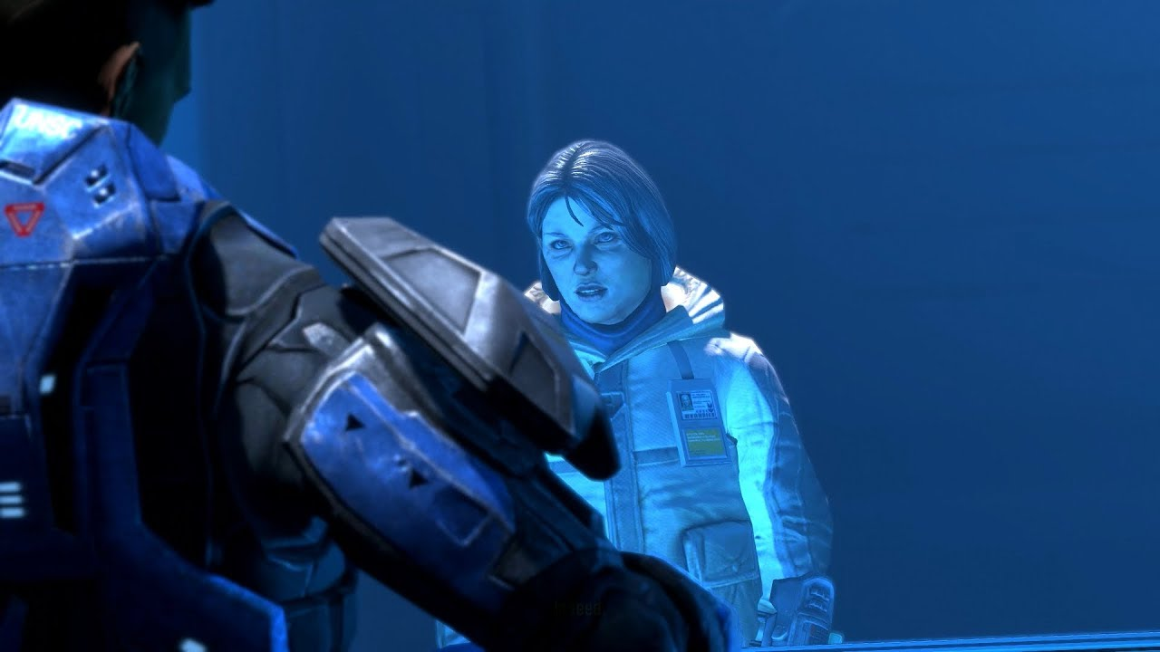 Halo: Reach PC - Noble Six Meets Dr. Halsey - YouTube