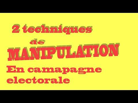 2 Techniques De Manipulation En Campagne électorale
