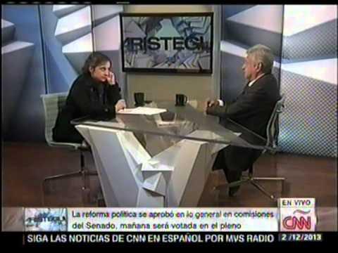Andres Manuel López Obrador, con Carmen Aristegui en CNN noticias