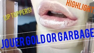 Jouer GOLD or GARBAGE? Lip toppers, highlighters & more! | Lorielizabethx