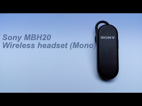 Sony Mbh20 Wireless Bluetooth Headset Unboxing N Review Haresh Youtube
