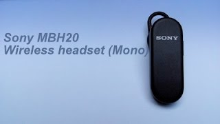 Sony MBH20 | Wireless Bluetooth Headset | Unboxing n Review | Haresh