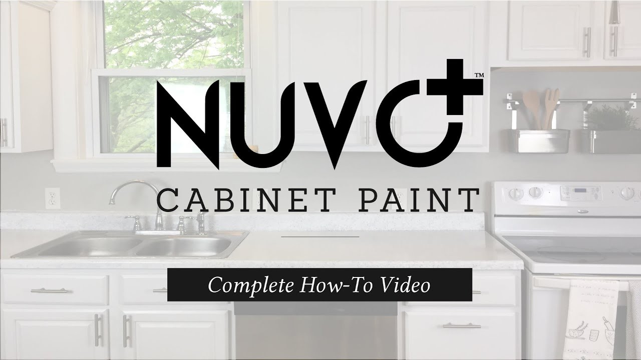Nuvo cabinet paint instructional how to video