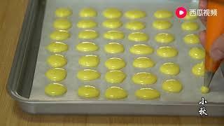 小秋:蛋黄溶豆,按这个方法和比例做,无水无油,入口即化,超简单