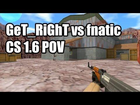 POV: GeT_RiGhT vs. fnatic @IEM 5 SK CS 1.6 Demo
