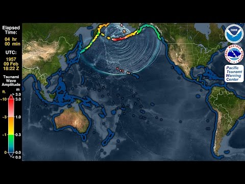 Tsunami Forecast Model Animation: Aleutian Islands 1957