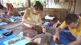 【Healing】2020 Maew湄兒老師:清邁古法木槌敲筋按摩 Chiang Mai Traditional Tok Sen Release Massage at Thailand#2