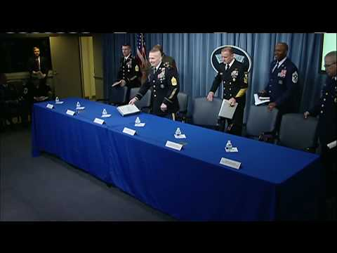 Senior Top Enlisted Leaders Brief Reporters