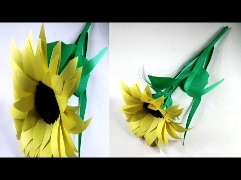 How To Make DIY Paper Sunflower - Paper Craft Tutorial