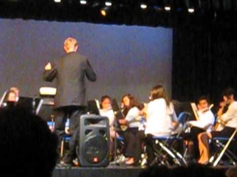Goleta Valley Junior High School Advanced Band playing John Williams - May 2013
