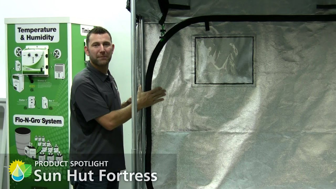 Sun Hut Fortress Grow Tents  sc 1 st  YouTube : sun hut tent - memphite.com