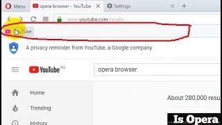 How to show the Bookmarks bar of Opera Browser