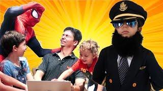 الطيار الصغير وسبايدر مان 🙈