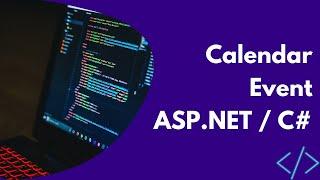 Calendar event ASP.NET / C#