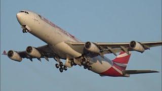 Heathrow Plane Spotting ft A340 and BA Gulf Air Retros 1st February 2020