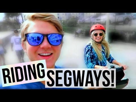 RIDING SEGWAYS ON THE BEACH! | Aspyn + Parker