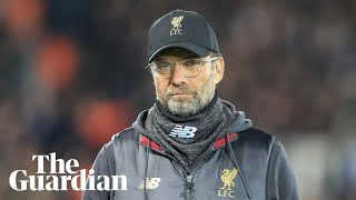 Liverpool 'have to be angry' against Manchester United, says Klopp