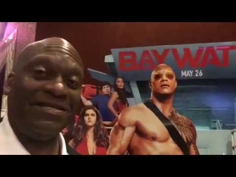 Dwayne The Rock Johnson's Baywatch Movie Theater Promotion Is Goofy