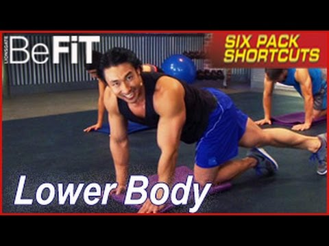 six pack shortcuts lower body workout with mike chang legs glutes youtube