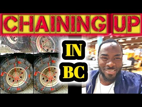 WOOD CHIP Trucking in British Columbia & Chain Up your Wheels & Mountain Climbing vlog #37