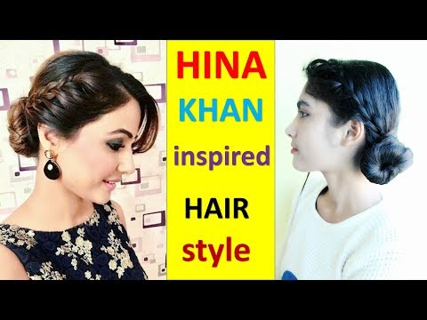 HINA KHAN inspired HAIR style | Celebrity Hairstyles | Indian Hairstyles for medium hair