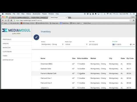 Inventory Management Media Mogul