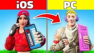 PLAYING with BANNED iOS ACCOUNTS (Fortnite Gun Game)