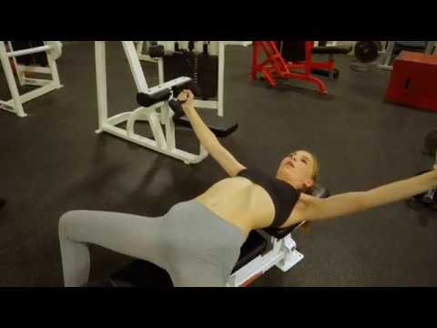 hot fitness girl ava parker working out at gym  youtube