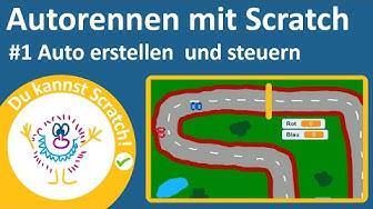 Ein Autorenn-Spiel mit Scratch programmieren #1 – Ein Auto erstellen und zum Fahren bringen